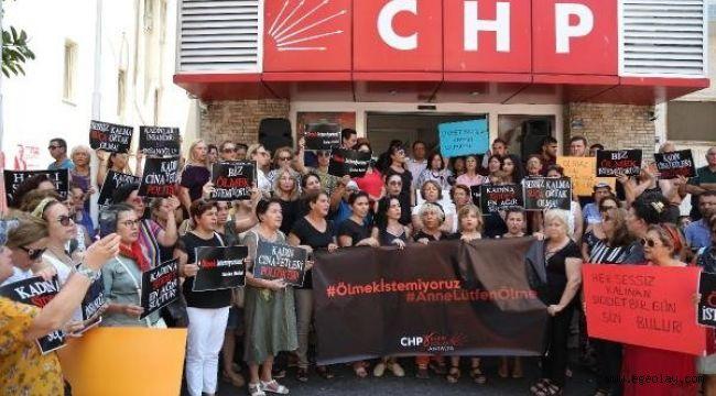 CHP Kadın Kolları 81 ilde eş zamanlı Emine Bulut eylemi yaptı