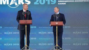 Erdoğan ve Putin Moskova'da havacılık fuarını açtı