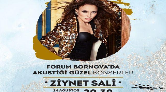 Forum Bornova ziyaretçileri Ziynet Sali ile coşacak