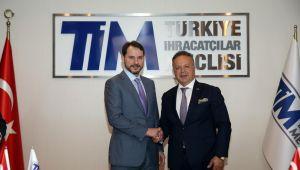 Hazine ve Maliye Bakanı Berat Albayrak TİM'i Ziyaret Etti