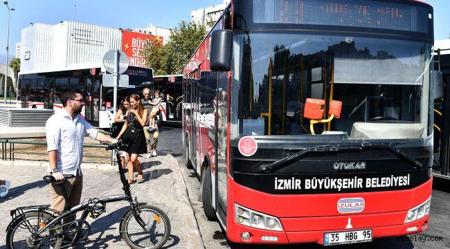 İzmir'de katlanır bisikletlere otobüs izni