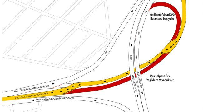 Kolektör temizliği nedeniyle Mürselpaşa Bulvarı'ndaki trafik akışı değişiyor