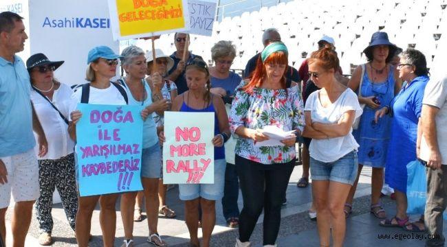 Marmaris'te Dünya Rallisi Başlamadan Protestolar Başladı!