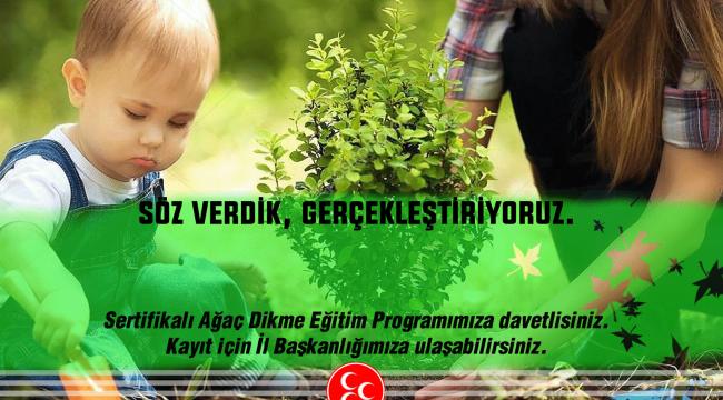 MHP'den Sertifikalı Ağaç Dikim Kampanyası