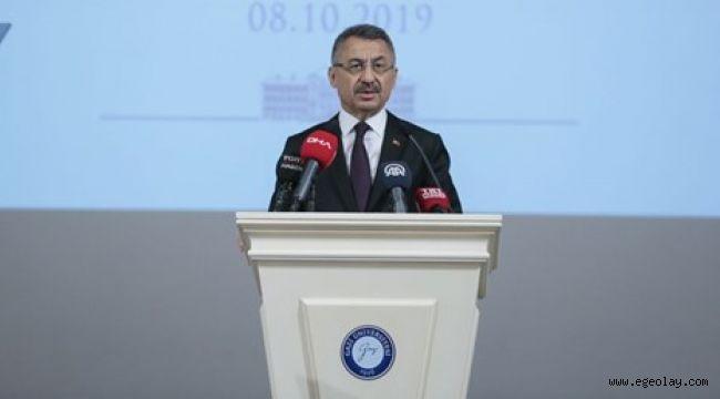Cumhurbaşkanı Yardımcısı Oktay: Türkiye, tehditlerle hareket edecek bir ülke değildir