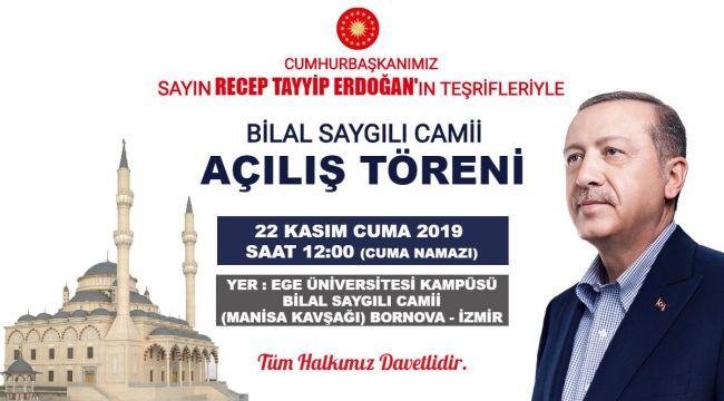 Bilal Saygılı Camii İbadete Açılıyor