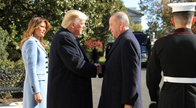 Cumhurbaşkanı Erdoğan ile ABD Başkanı Trump'ın görüşmesi başladı