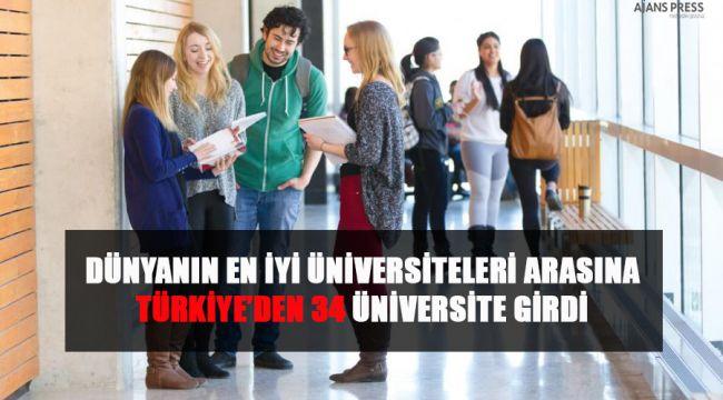 Dünyanın en iyi üniversiteleri arasında Türkiye'den 34 üniversite girdi