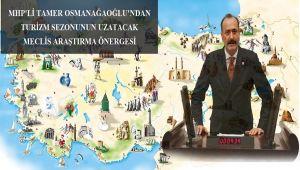 MHP'li Osmanağaoğlu'ndan Turizm Sezonunu Uzatacak Meclis Araştırma Önerisi
