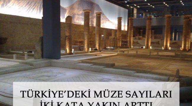 Türkiye'deki müze sayıları iki kata yakın arttı