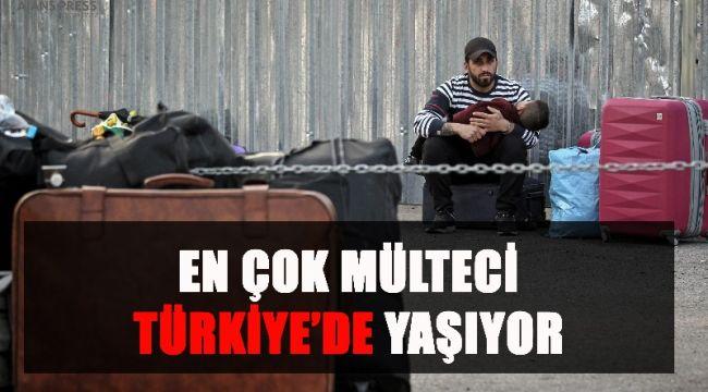 En çok mülteci Türkiye'de yaşıyor