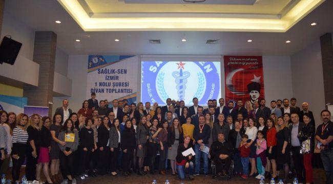 Sağlık-Sen İzmir 1 No'lu Şube Divan Toplantısı Yapıldı