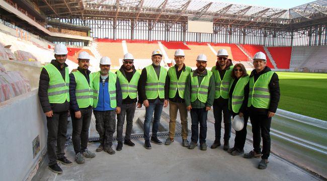TSYD İzmir Şubesi, Göztepe'nin yeni stadını gezdi