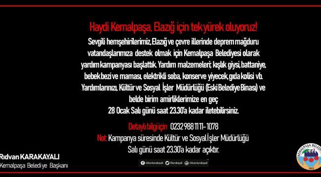 Başkan Karakayalı'dan Kemalpaşa'nın tüm kesimlerine 'Elazığ' için birlik çağrısı