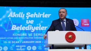 """Cumhurbaşkanı Erdoğan; """"Şehirlerimizde tarihi, kültürü, medeniyeti koruyarak yeni ihtiyaçlara uygun yatırımlara yöneleceğiz"""""""