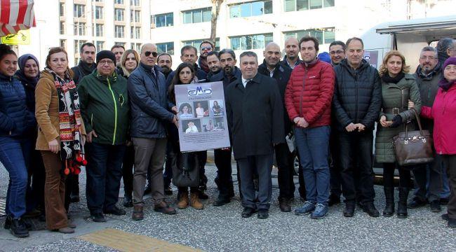 EMD İzmir Şubesi'nden yaşamını yitiren üyeleri için anma töreni