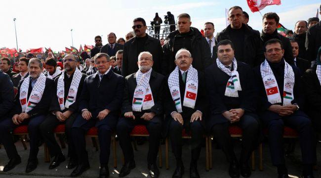 Kılıçdaroğlu 'Büyük Kudüs Mitingi'nde: Günümüzün firavununa karşı her birimiz birer Musa'yız