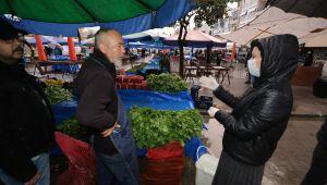 Efes Selçuk Halk Pazarında Sıkı Önlemler