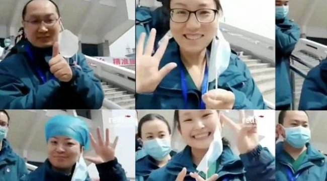 Wuhanlı doktorlar son geçici hastanenin kapatılmasını kutladı
