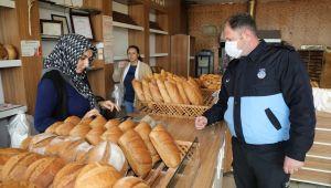 Gaziemir'de ekmek fırınlarına koronavirüs denetimi