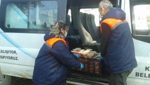 İzmir'inKiraz Belediyesi, günde 200 aileye sıcak yemek dağıttı, bin 500 aileye de gıda yardımı yaptı