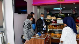 Narlıdere'de fırınlara 'virüs' denetimi