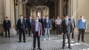 Başkan Sürekli'den sağlıkçılar ve esnafla bayramlaşma