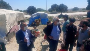 Milletvekili Purçu,Çadırda Yaşayan Romanların Derdine Çare Arıyor!