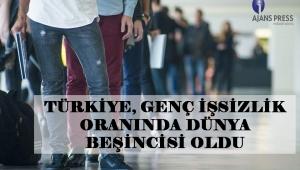 Türkiye'de Genç İşsizlik Oranında Dünya Beşincisi Oldu