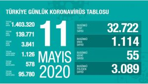 Türkiye'de son 24 saatte 55 can kaybı