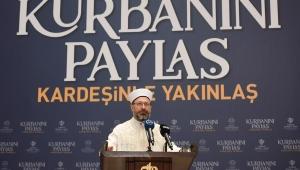 Diyanet İşleri Başkanı Erbaş, 2020 yılı vekâlet yoluyla kurban kesim bedellerini açıkladı