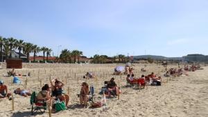 Ilıca Plajı yine cıvıl cıvıl !