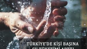 Türkiye'de Kişi Başına Su Tüketimi Arttı
