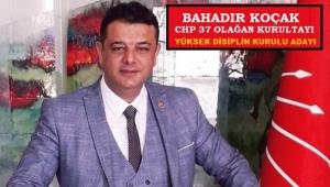 CHP'nin Genel Merkez Yüksek Disiplin kurulu üyeliğine Bahadır Koçak Aday oldu