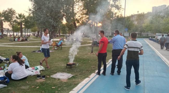 Mangallar toplandı, çevreyi kirleten bir kişiye para cezası kesildi