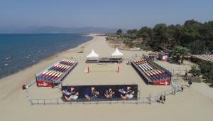 Efes Selçuk'ta Avrupa Plaj Voleybolu Şampiyonası İçin Geri Sayım Başladı