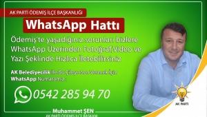 AK Parti Ödemiş İlçe Başkanlığı WhatsApp iletişim hattı kurdu