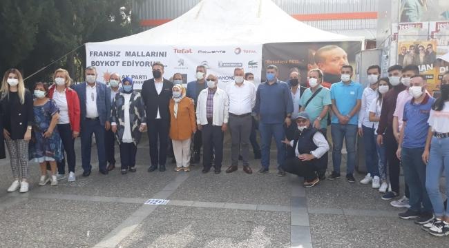 Ak Partililer Buca'da Fransa'yı kınadı