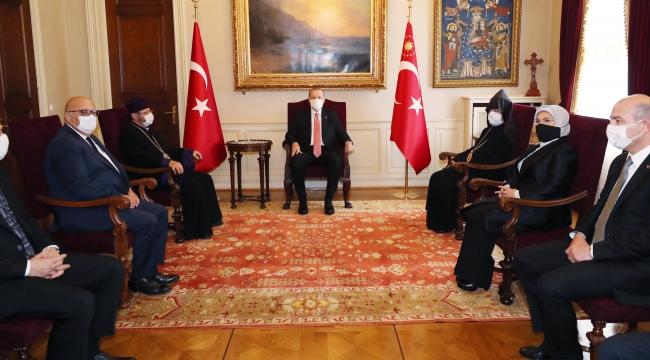 Cumhurbaşkanı Erdoğan, Türkiye Ermenileri Patriği Maşalyan ile bir araya geldi