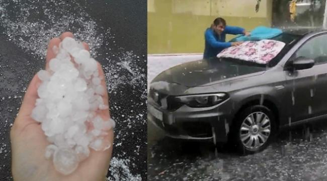 İzmir'de dolu yağışı etkili oldu