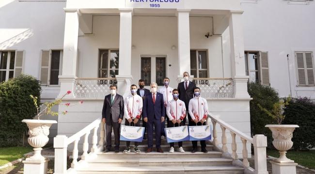 Artistik Cimnastik Milli Takımı ilk ziyaretini Ege'ye yaptı