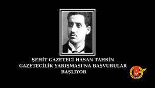 54.Şehit Gazeteci Hasan Tahsin Gazetecilik Yarışması'na Başvurular Başlıyor