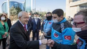 CHP Lideri Kılıçdaroğlu, Motokuryeler İle Buluştu