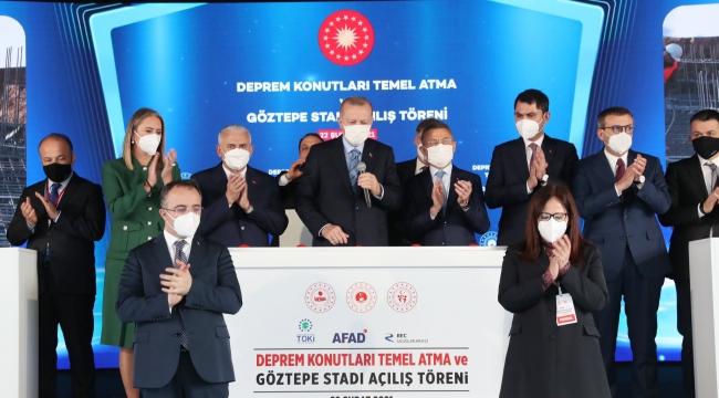 """Erdoğan; """"TOKİ tarafından bir milyon adet depreme dayanıklı sosyal konutun üretimini gerçekleştirdik"""""""