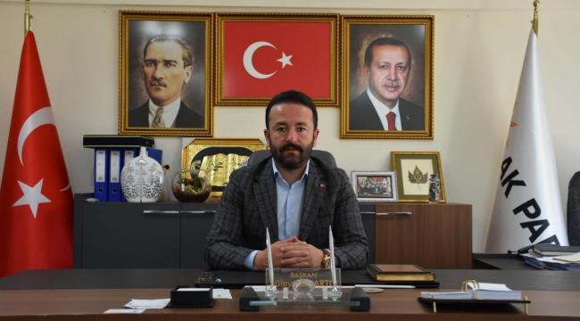 """AK Parti Menderes İlçe Başkanı Süleyman Artcı; """"Alnı açık olan, ortaya çıkar! """""""