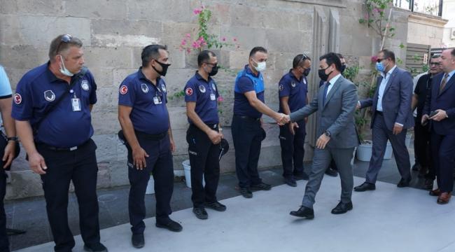 Bodrum Belediye Başkanı Ahmet Aras Personeli İle Bayramlaştı