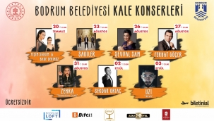 Bodrum Belediyesi Kale Konserleri Başlıyor