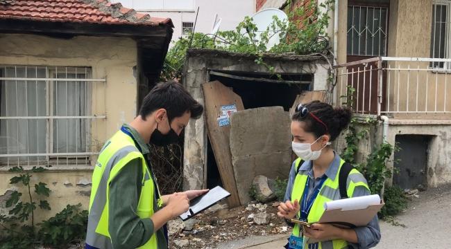 İzmir Büyükşehir Belediyesi Bayraklı'nın yapı stoku envanteri için sahada Çalışmaların yüzde 86'sı tamamlandı