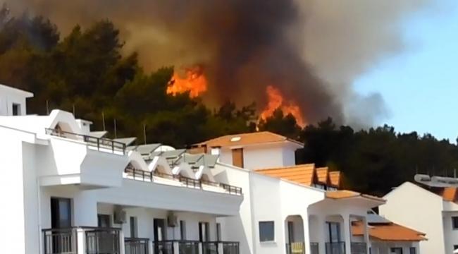 Marmaris Merkez'de Orman Yangını!