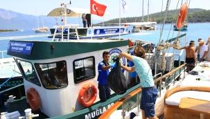 Muğla'da Bayramda denizlerden 268 bin 145 kilo katı atık toplandı
